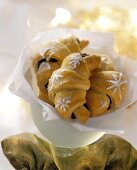 Nut and chocolate crescents