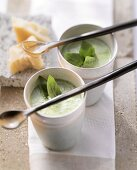 Basil and parmesan soup