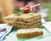 Savoury olive cake for picnic