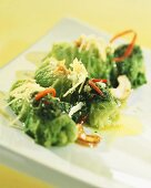 Chinese cabbage rolls with ginger pesto