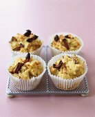 Cherry and date muffins (gluten-free) in paper cases
