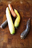 Carrots of various colours