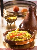 Middle Eastern chicken tajine with apricots