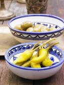 Pickled chillies and olives (North Africa)