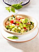Couscous tabbouleh with vegetables (North Africa)