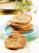 Flatbread with thyme and sesame seeds