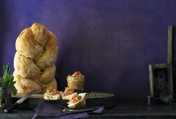Bread plait with herbs