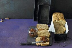 Nut bread with spreads
