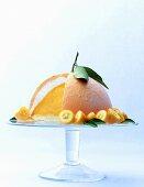 Orange ice cream cake