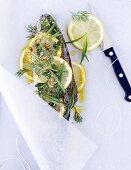 Lemon trout en papillote