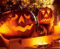 Hollowed-out pumpkins for Halloween