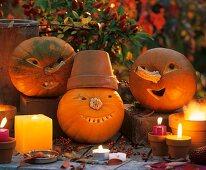 Halloween: amusing pumpkin faces