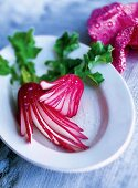 Radishes with salt