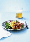 Asparagus, radicchio and blood orange salad