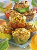 Pumpkin muffins and raisin muffins