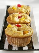 Fruit muffins with liqueur