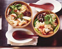 Spicy clear soup with shrimps