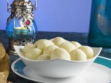 Rasgulla (Sweet cheese balls, India)