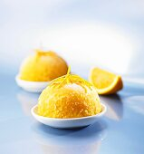 Orange sorbet with alcohol
