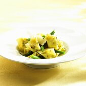 Fagottini with green beans