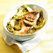 Red snapper on fennel with pastis