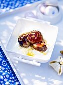Fig compote with honey