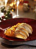 Turkey breast with mashed sweet potato (Christmas)