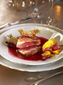 Duck breast fillet with beetroot sauce (Christmas)