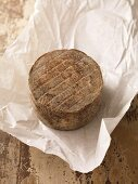 Basque cheese on paper