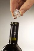 Wine bottle with glass stopper