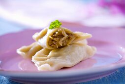 Pasta envelopes with cabbage filling