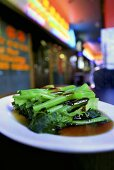 Broccoli rabe with soy sauce (China)