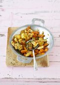 Chicken, quince and carrot stir-fry