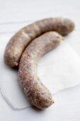 Dyke lamb sausages