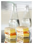 Shortbread sandwiches with passion fruit cream and jelly