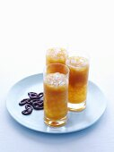 Apricot juice with crushed ice