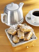 Basler Leckerli (spiced biscuits from Basel, Switzerland) with coffee