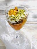 Kehdinger Streifzug (Layered dessert of apple, pumpkin and black bread)