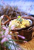 Salad with marinated mushooms