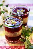 Wild strawberry jelly with gooseberries