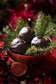 Chocolate balls for Christmas