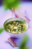Vegetable soup with Swiss chard