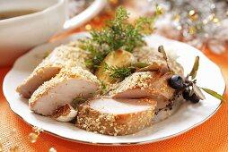 Pork fillet with sesame seeds (Christmas)