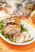 Stuffed turkey breast with pine nuts (Christmas)