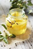 Pear compote with cloves