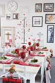Laid Christmas table