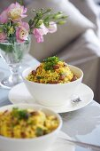 Couscous with vegetables and raisins