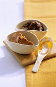 Yellow and brown miso paste