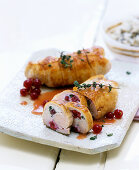 Turkey roulade with redcurrants