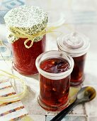 Raspberry and red berry jam
